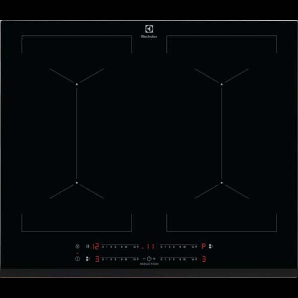 Plita incorporabila Electrolux EIV644, Inductie, 4 Arzatoare, Control touch, 60 cm, Sticla neagra