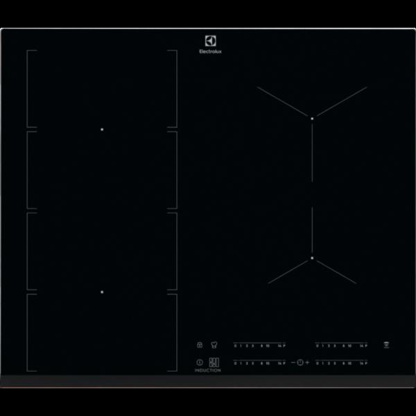 Plita incorporabila Electrolux EIV654, Inductie, 4 Arzatoare, Control touch, 60 cm, Sticla neagra