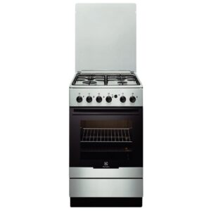 Aragaz Electrolux EKG51154OX, Gaz, 4 Arzatoare, Aprindere integrata plita si cuptor, Grill, Rotisor, 50x60 cm, Inox