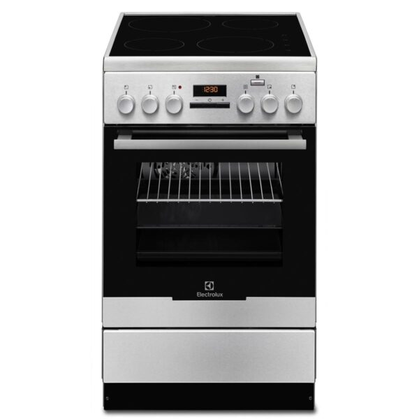 Aragaz Electrolux EKI54950OX 50x60 cm, Plita inductie 4 zone de gatit, Booster, Cuptor electric multifunctional (11 functii) Plus Steam -gatire cu abur, Autocuratare catalitica, Grill electric, 57 l, Inox