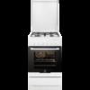 Aragaz mixt Electrolux EKK51550OW, 4 arzatoare gaz, Cuptor electric multifunctional (6 functii), Grill, 57 litri, 50x60 cm, Alb