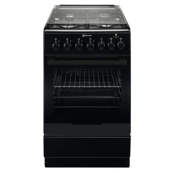 Aragaz mixt Electrolux EKK52950OK, 4 arzatoare gaz, Cuptor electric multifunctional, Functie Abur Plus Steam, Grill, Clasa A, 58 L, 50x60 cm, Negru