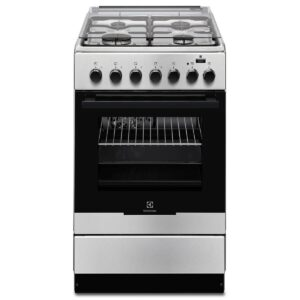 Aragaz Electrolux EKK52950OX 50x60 cm, Mixt, 4 arzatoare gaz, Cuptor electric multifunctional (11 functii), Plus Steam -gatire cu abur, Grill electric, 57 l, Inox
