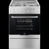 Aragaz mixt Electrolux EKM64900OX, 3 arzatoare gaz + 1 electric, 58 L, Plus Steam, Cuptor electric, 60 cm, Inox