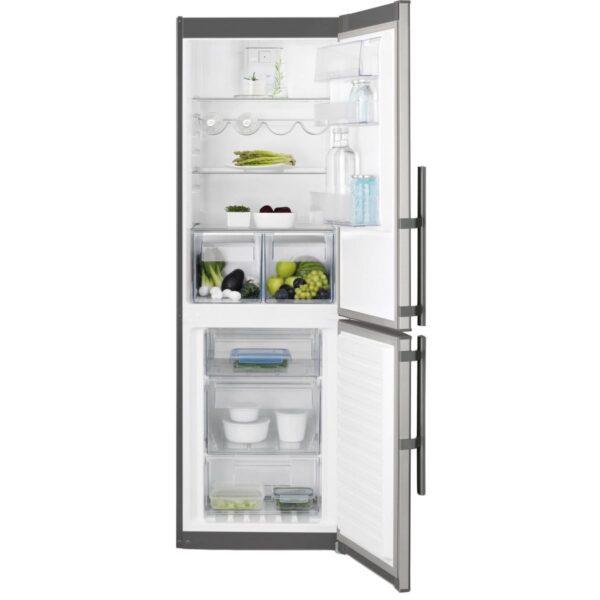 Combina frigorifica Electrolux EN3453MOX, No Frost, 318 l, A++, H 184.5 cm, Inox