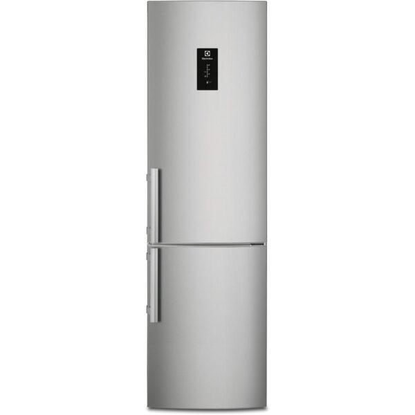Combina frigorifica Electrolux EN3790MOX, No Frost, 334 l, Afisaj LCD pe usa Touch control, Clasa A++, H 200 cm, Inox antiamprenta