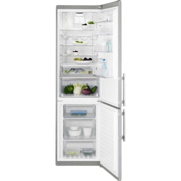 Combina frigorifica Electrolux EN3886MOX, No Frost, 350 l, A++, Electrovalva, Touch control, H 200 cm, Inox