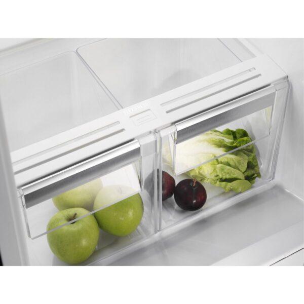 Combina frigorifica incorporabila ElectroluxENN2851AOW, 253 l, Dezghetare automata frigider Fresh Frost Free si congelator No Frost, Ventilator interior, Clasa A +, 178x54x55 cm