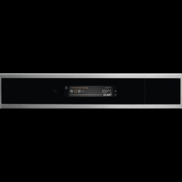 Cuptor incorporabil Sous Vide Electrolux EOA9S31CX, Electric, 70 L, 25 functii, Autocuratare cu abur, Conectivitate WI-FI indoor, CookView (camera video), Ecran TFT ACTIV- Control touch dinamic, Meniu in limba romana, Retete predefinite, Inchidere amortizata usa, Sonda temperatura, Grill, Convectie, Clasa A++, Inox/Negru