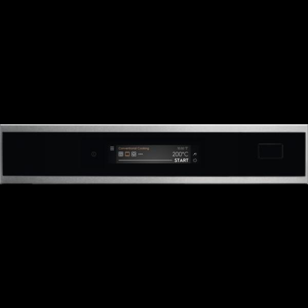 Cuptor incorporabil CombiSteam Electrolux EOB9S31WX, Electric, 70 L, 22 functii, Autocuratare cu abur, SteamBoost (gatire cu abur), Convectie, Conectivitate WI-FI indoor, Ecran TFT ACTIV- Control touch dinamic, Meniu in limba romana, Retete predefinite, Inchidere amortizata usa, Sonda temperatura, Grill, Clasa A++, Inox/Negru