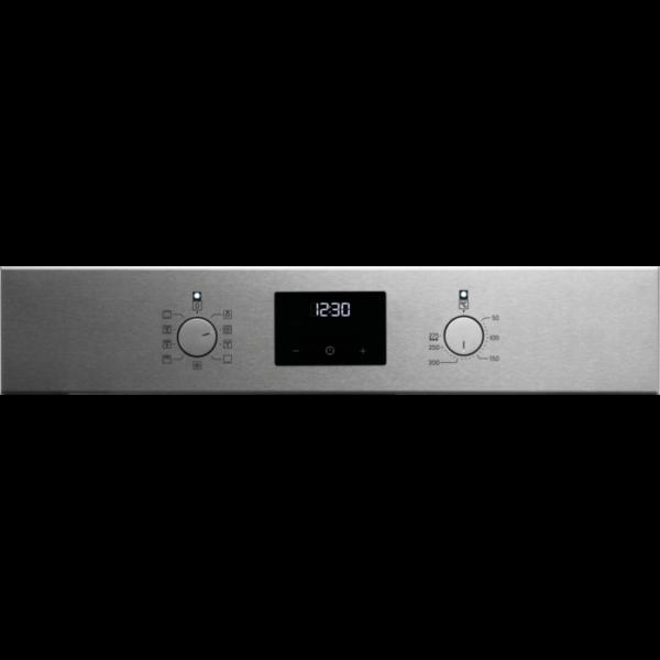Cuptor incorporabil multifunctional Electrolux EOF3C50TX, Electric, 72 L, 8 functii de gatire, SurroundCook, Autocuratare catalitica, Timer cu display electronic, Grill, Butoane retractabile, Convectie, Clasa A, Inox