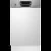 Masina de spalat vase Electrolux ESI4621LOX, Partial incorporabila, 45 cm, 9 seturi, 6 programe, AirDry, Display electronic, Motor Inverter, Clasa A++, Inox