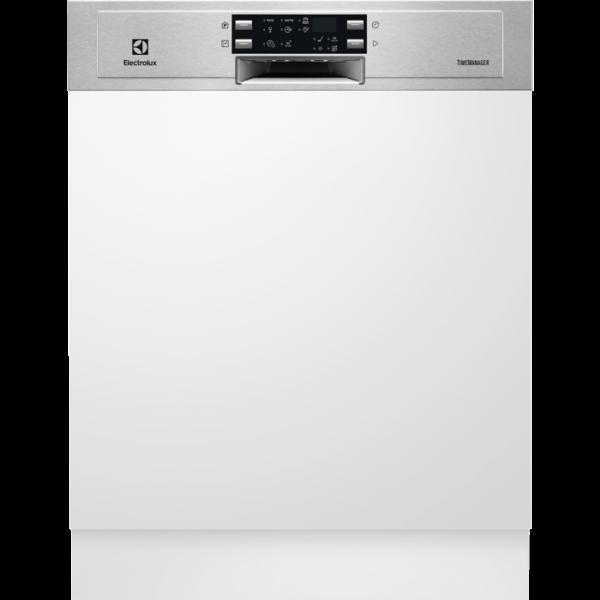 Masina de spalat vase partial incorporabila Electrolux ESI9500LOX, 14 seturi, AirDry, Sertar MaxiFlex, Latime 59.6 cm, 6 programe, Afisaj digital, Motor Inverter, Clasa A++