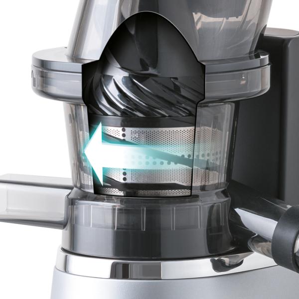 Storcator slow juicer Electrolux PerfectJuice ESJ4000, 150 W, Inox/Negru