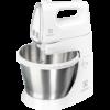 Mixer cu bol Electrolux ESM3300, 450 W, 5 setari viteza, bol inox 3.5l, Alb+silver