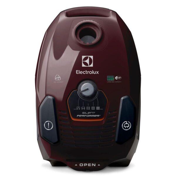 Aspirator cu sac Electrolux Silent Performer ESP75BD, 550W, 3.5 l, Hygiene Filter 12, perie DustMagnet™ Silent, perie Parketto, perie TurboDex, Visiniu