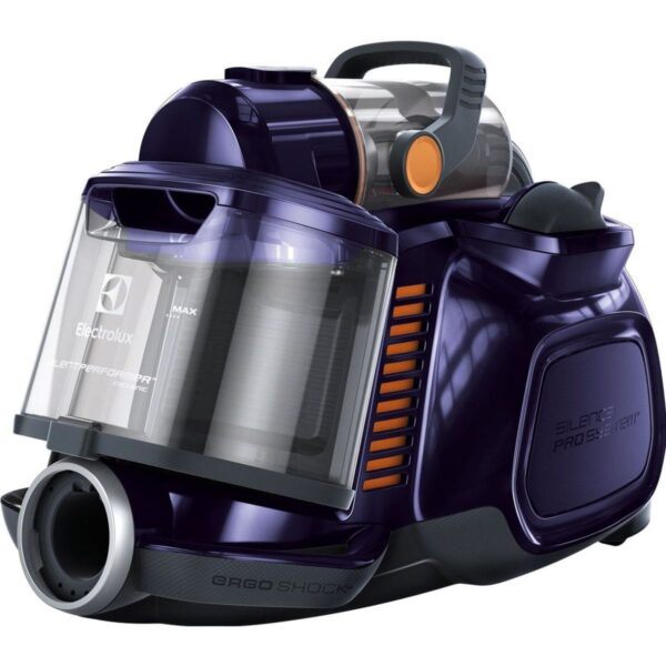 Aspirator fara sac Electrolux Silent Cyclonic Performer ESPC71DB, 650W, Hygiene Filter 12, perie DustMagnet Silent, Albastru inchis