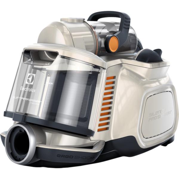 Aspirator fara sac Electrolux Silent Cyclonic Performer ESPC74SW, 650W, Hygiene Filter 12, perie DustMagnet Silent, Alb