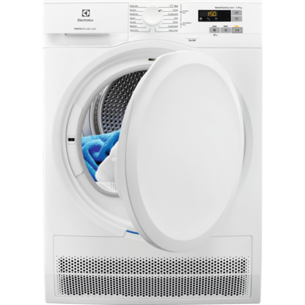 Uscator de rufe prin condensare Electrolux EW6C527P, 7 kg, Clasa uscare B, afisaj Touch LCD, Alb