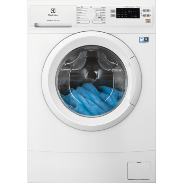 Masina de spalat rufe Electrolux EW6S506W, 6 kg, 1000 rpm, A++, Display LED, Slim, Alb