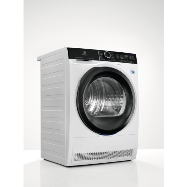 Uscator de rufe Electrolux EW9H188SC, Perfect Care 900, 8 kg, A+++, CycloneCare, 3DSense, Pompa de caldura, Alb