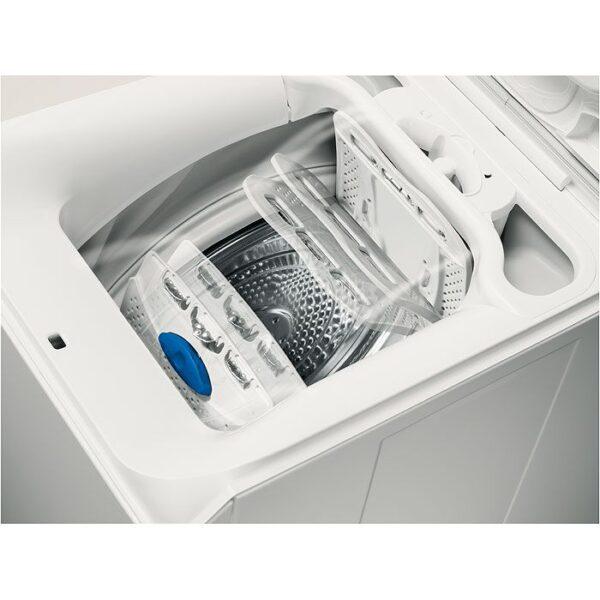 Masina de spalat rufe cu incarcare verticala Electrolux EWT1066ESW, 6 kg, 1000 rpm, Clasa A+++, LCD, Alb