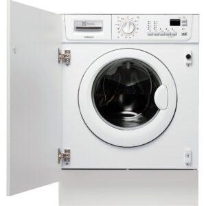 Masina de spalat rufe cu uscator incorporabila Electrolux EWX147410W, 7 kg/4 kg, 1400 rpm, Display LCD, Alb