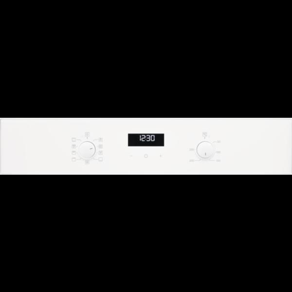 Cuptor incorporabil multifunctional Electrolux EZF5C50V, Electric, 57 L, 7 functii, SurroundCook, Autocuratare catalitica, Timer cu display electronic, Panel frontal de sticla, Grill, Convectie, Clasa A, Alb