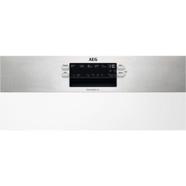 Masina de spalat vase AEG FEE53600ZM, Partial incorporabila, 60 cm, 13 seturi, 5 programe, AirDry, Motor Inverter, Afisaj digital, Clasa A+++