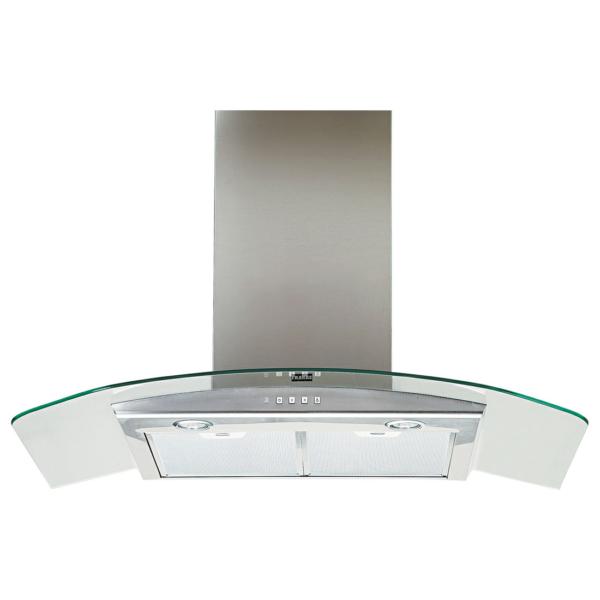 Hota Franke Glass Soft - FGC 925 XS Inox Satinat, Semineu arcada, 540 m3/h, 90 cm, Panel sticla