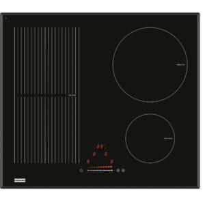 Plita incorporabila Franke Crystal FH 604 2I 1 FLEXI T PWL, 4 zone inductie (1 Flexi), 59 x 52 cm, Touch Control, Sticla neagra