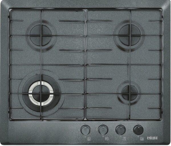 Plita incorporabila Franke Multi Cooking 600 FHM 604 3G TC GF E, 4 arzatoare gaz, 60 cm, Grafite
