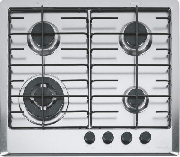 Plita incorporabila Franke Multi Cooking 600 FHM 604 3G TC XL E, 4 arzatoare gaz, 60 cm, Inox