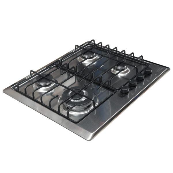 Plita incorporabila Franke Multi Cooking 600 FHM 604 3G TC XS E, 4 arzatoare gaz, 60 cm, Inox