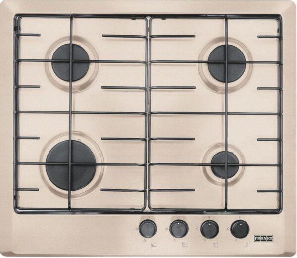 Plita incorporabila Franke Multi Cooking 600 FHM 604 4G OA E, 4 arzatoare gaz, 60 cm, Avena