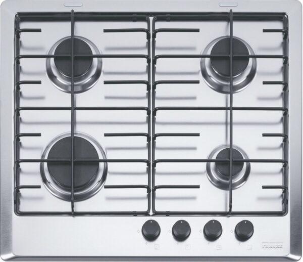 Plita incorporabila Franke Multi Cooking 600 FHM 604 4G XS E, 4 arzatoare gaz, 60 cm, Inox