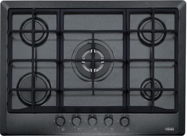 Plita incorporabila Franke Multi Cooking 700 FHM 705 4G TC GF C , 5 arzatoare gaz, 70 cm, Fonta, Grafite
