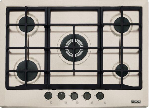 Plita incorporabila Franke Multi Cooking 700 FHM 705 4G TC SH C , 5 arzatoare gaz, 70 cm, Fonta, Sahara