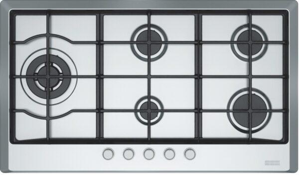 Plita incorporabila Franke Multi Cooking 900 FHM 905 4G LTC XS C, 5 arzatoare gaz, Fonta, 90 cm, Inox