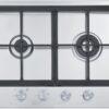 Plita incorporabila Franke Neptune FHNE 1204 3G TC XS C , 4 arzatoare gaz, Fonta, 109 cm, Inox 106.0064.312 6600067