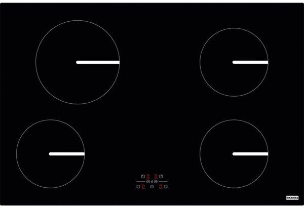 Plita incorporabila Franke Smart FHSM 804 4I, 4 zone inductie, 78 x 52 cm, Touch Control, Sticla neagra