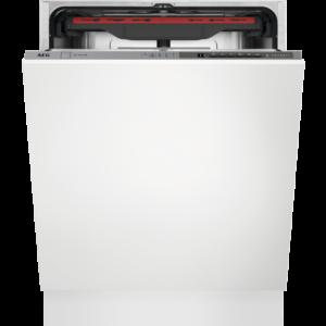 Masina de spalat vase total incorporabila AEG FSE52910Z, 14 seturi, AirDry, Sertar MaxiFlex, Latime 59.6 cm, 5 programe, Usa slide, Motor inverter, Afisaj digital, Indicator luminos pe podea, Clasa A++