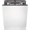 Masina de spalat vase total incorporabila AEG FSE63717P, 15 seturi, AirDry, Latime 59.6 cm, 7 programe, Usa slide, Motor inverter, Afisaj digital, Indicator luminos pe podea, Clasa A+++