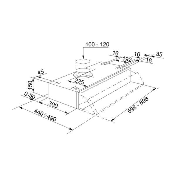 Hota Franke Step Lux - FSI 9122 LX Inox Satinat, Traditionala cu front extractibil, 90 cm, 235 m3/h