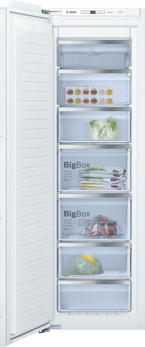 Congelator incorporabil Bosch GIN81AE30, No Frost, 211 l, 7 compartimente, Clasa A++, H 177.5 cm, Alb