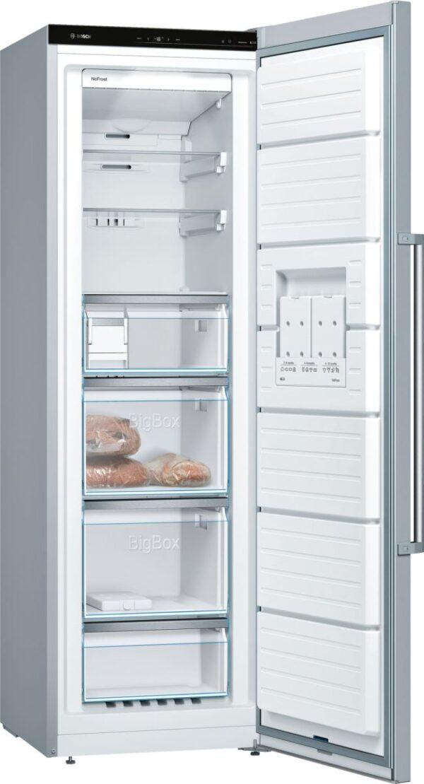 Congelator Bosch GSN36AI3P, No Frost, 242 l, 7 compartimente, A++, H 186 cm, Inox EasyClean