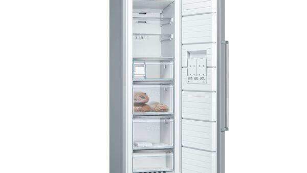 Congelator Bosch GSN36BI3P, No Frost, 242 l, 7 compartimente, A++, Display extern, H 186 cm, Inox antiamprenta