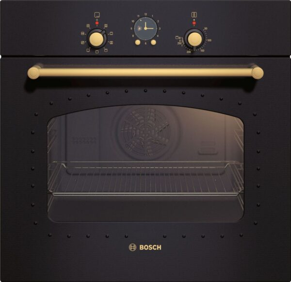 Cuptor incorporabil Bosch HBA23RN61, Rustic, Multifunctional, 62 L, 7 functii, EcoClean, Negru