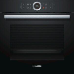 Cuptor incorporabil Bosch HBG633NB1, 71 l, sticla neagra, cuptor multifunctional, 10 functii, sistem de autocuratare EcoClean Direct