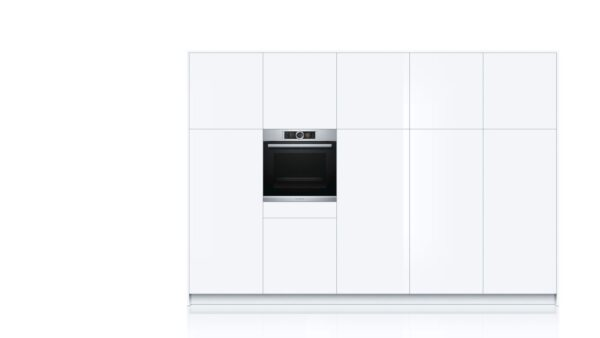 Cuptor incorporabil Bosch HSG636ES1, Multifunctional cu aburi, 12 functii, 71 L, EcoClean Direct, Inox